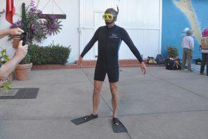 bereit für die Walhaitour in der Baja